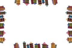 Pagina dei fuochi d'artificio imballati, colori differenti dei fuochi d'artificio delle case Fotografia Stock