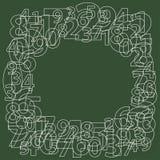 Pagina dei numeri su verde Generatore di numero casuale Illustrazione Vettoriale