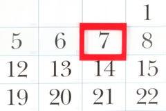 Pagina del calendario immagini stock