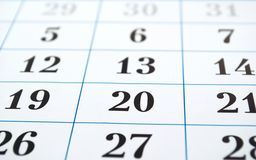Pagina del calendario Fotografia Stock
