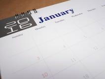 Pagina 1 del calendario Fotografia Stock