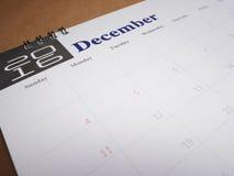 Pagina 12 del calendario Fotografia Stock
