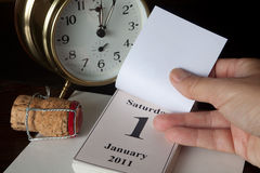 Pagina del calendario del nuovo anno Fotografie Stock