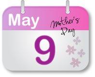 Pagina del calendario di giorno della madre Fotografie Stock Libere da Diritti