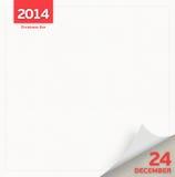 Pagina del calendario di notte di Natale Fotografia Stock