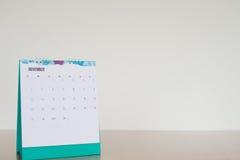 Pagina del calendario nel tono bianco Immagine Stock Libera da Diritti