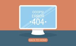 Pagina 404 del computer non trovata Fotografia Stock Libera da Diritti