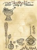 Pagina 3 del diario della strega di 31 illustrazione vettoriale