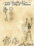 Pagina 3 del diario della strega di 31 illustrazione di stock