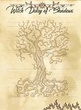 Pagina 30 del diario della strega di 31 illustrazione vettoriale