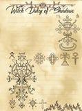 Pagina 28 del diario della strega di 31 illustrazione di stock