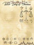 Pagina 26 del diario della strega di 31 royalty illustrazione gratis