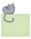 Pagina del gatto Fotografie Stock Libere da Diritti