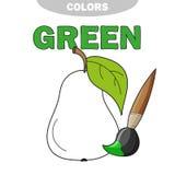 Pagina del libro da colorare per i bambini in età prescolare con i profili della pera royalty illustrazione gratis
