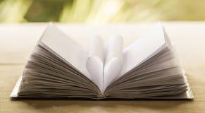 Pagina del libro del cuore - stile d'annata di effetto immagine stock libera da diritti