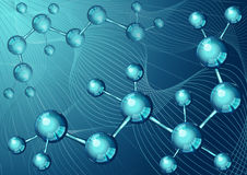 Pagina 5 del modello 10 per infographic con la struttura molecolare blu Fotografia Stock
