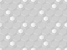 pagina del poligono dell'incrocio di esagono di arte del Libro Bianco 3D Immagini Stock