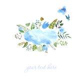 Pagina dell'acquerello dipinto Fotografia Stock