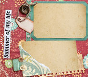Pagina dell'album Fotografie Stock