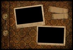 Pagina dell'album dell'annata Fotografia Stock