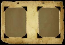 Pagina dell'album dell'annata Fotografia Stock Libera da Diritti
