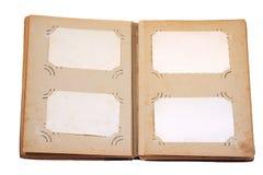Pagina dell'album dell'annata Fotografie Stock