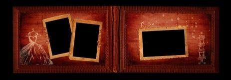 Pagina dell'album dell'annata di cerimonia nuziale Fotografia Stock Libera da Diritti