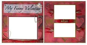 Pagina dell'album di Digitahi del biglietto di S. Valentino Immagine Stock Libera da Diritti