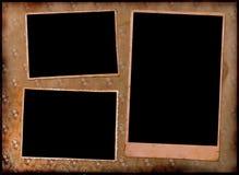 Pagina dell'album di foto dell'annata. Fotografia Stock Libera da Diritti