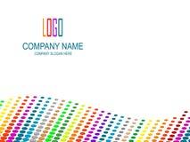 Pagina dell'azienda. Fotografia Stock