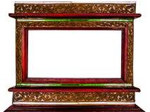 Pagina dell'immagine fatta dall'annata della decorazione del confine e di legno Fotografia Stock Libera da Diritti