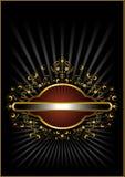 Pagina dell'oro con l'ornamento floreale Immagine Stock Libera da Diritti