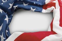 Pagina della bandiera americana con lo spazio della copia Fotografie Stock Libere da Diritti
