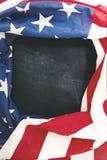 Pagina della bandiera americana sulla lavagna Immagine Stock