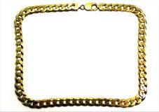 Pagina della catena dell'oro fotografie stock