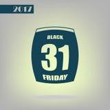 Pagina della data di calendario di vendita di Black Friday Fotografia Stock Libera da Diritti