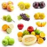 Pagina della frutta isolata su bianco Immagini Stock