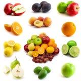 Pagina della frutta isolata su bianco Immagini Stock Libere da Diritti