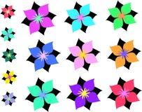 Pagina della miscela dei fiori asiatici Fotografia Stock