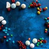 Pagina delle bacche, della caramella e delle caramelle gommosa e molle Immagine Stock Libera da Diritti