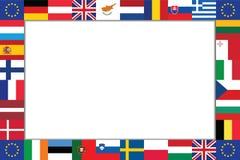 Pagina delle bandiere dei paesi dell'UE Fotografia Stock Libera da Diritti