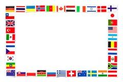 Pagina delle bandiere nazionali i paesi differenti del mondo isolato Fotografia Stock Libera da Diritti