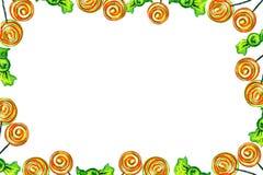 Pagina delle caramelle rosse Fotografie Stock Libere da Diritti
