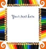 Pagina delle matite colorate Fotografia Stock Libera da Diritti