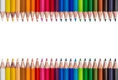 Pagina delle matite colorate Immagine Stock