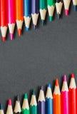 Pagina delle matite colorate Fotografie Stock Libere da Diritti