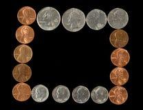 Pagina delle monete Fotografia Stock Libera da Diritti