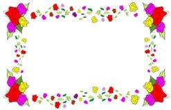 Pagina delle rose Fotografia Stock