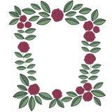 Pagina delle rose di scarabocchio Fotografie Stock Libere da Diritti