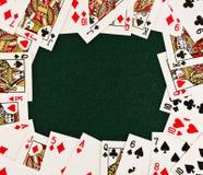 Pagina delle schede di gioco Fotografie Stock Libere da Diritti